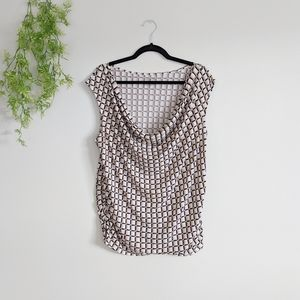 (Lane Bryant) Square Rouched Neutral Sleeveless 14